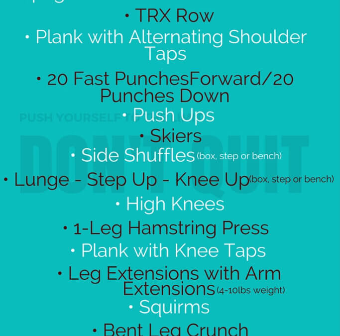 Total Body Workout brought to you