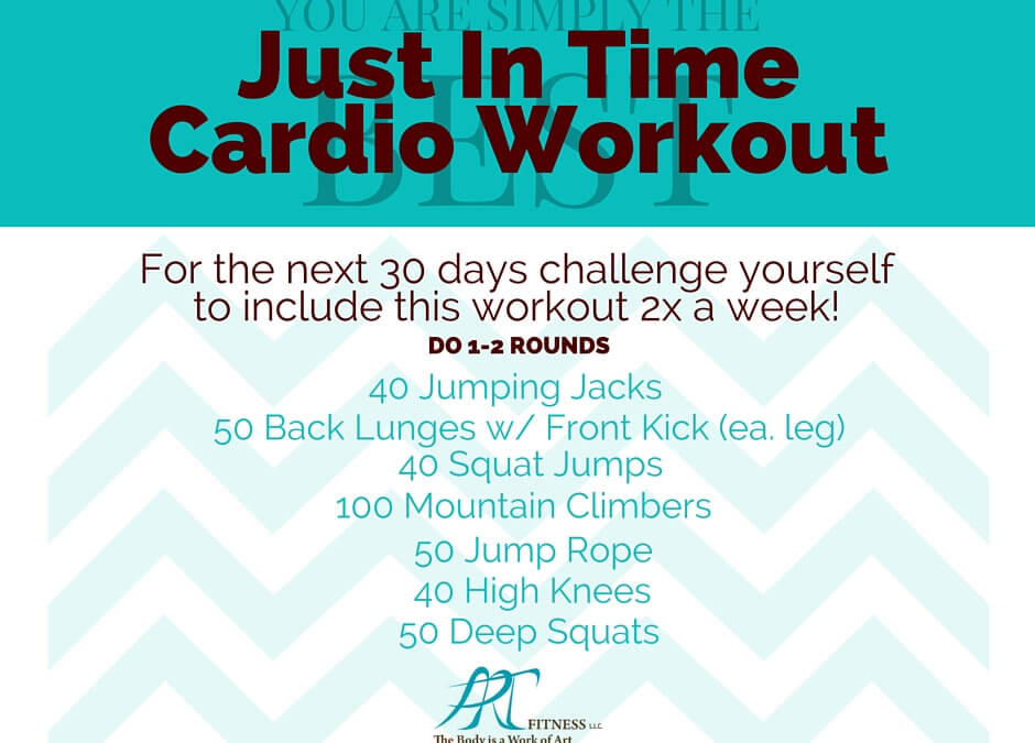 Cardio Challenge brought to you